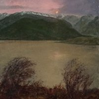 685:  Loch Linnhe Sunset  24x18  Oil on canvas panel